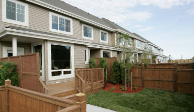 Sage Creek Townhome Condo Backyard