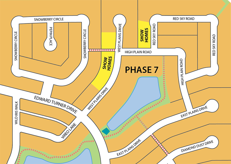 Sage Creek Show Homes Map